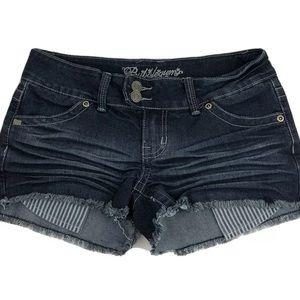 Bubblegum Cut Off Denim Shorts Blue Size 3/4
